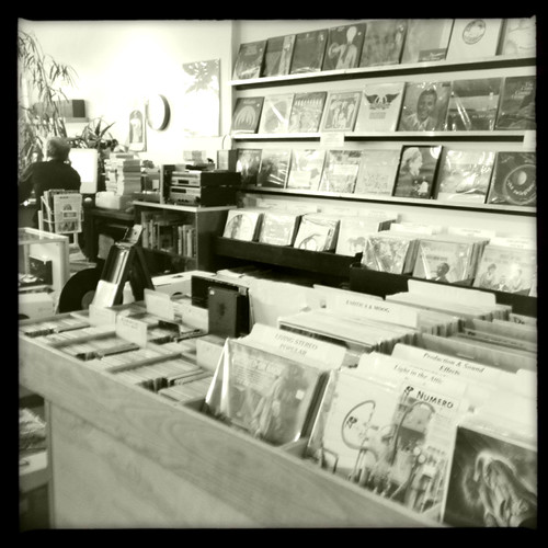 Records at a record store!