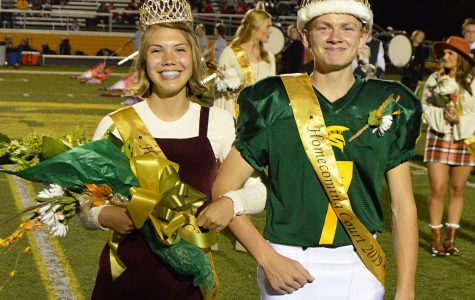 2019 Homecoming Royalty Isabel Anderson and Owen Vogelsong.
