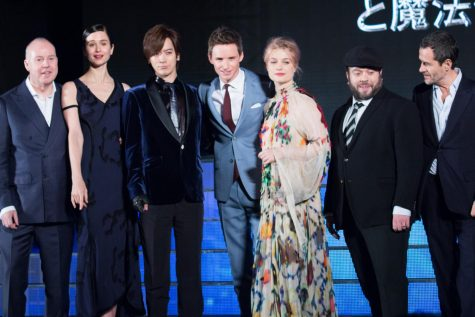 The cast of Fantastic Beasts & Where to Find Them at the Japanese premiere in 2018.
