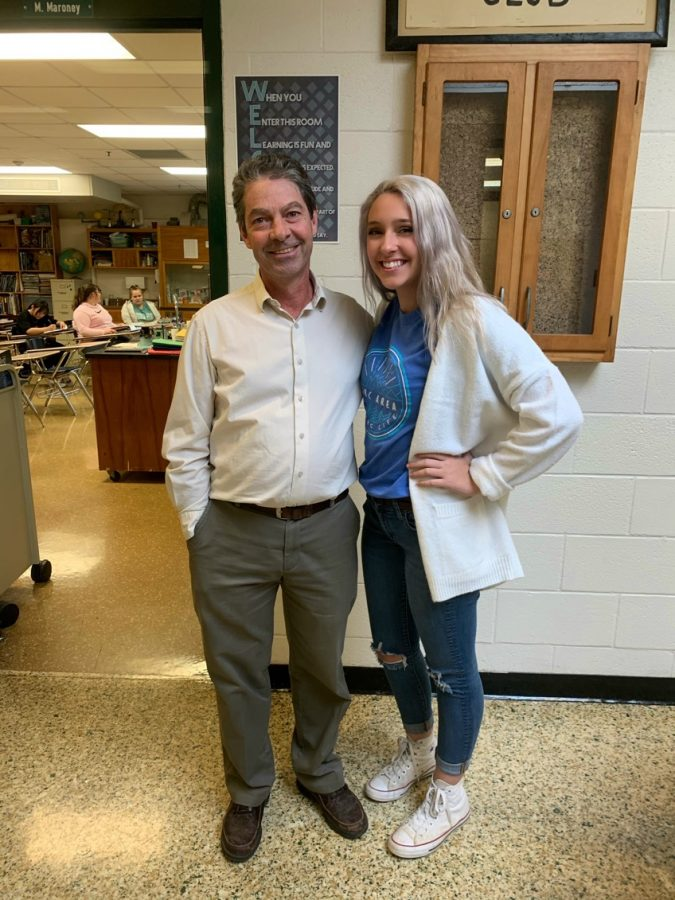 Mr. Maroney with #1 fan Kaya Pence.