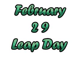 Leap year occurs every four years.