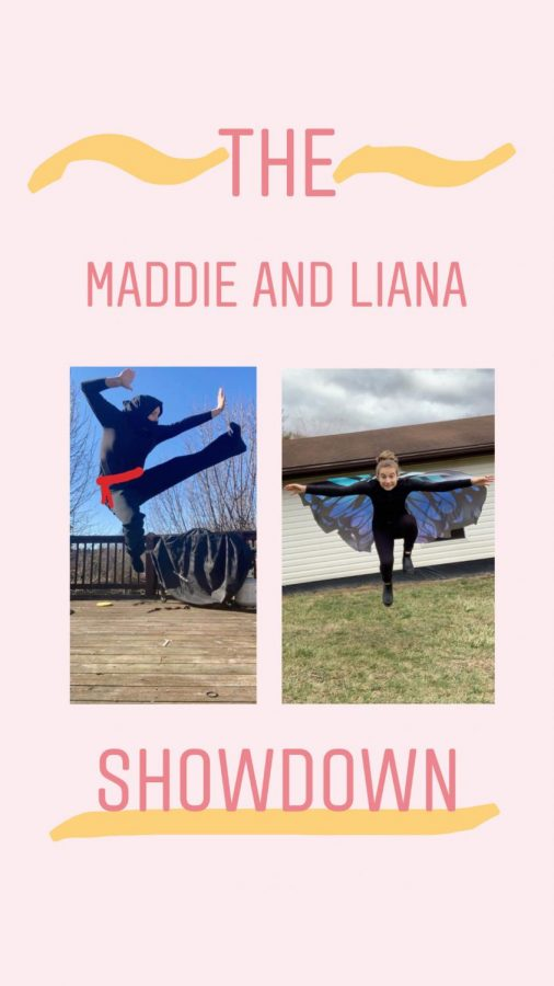 The+Maddie+and+Liana+Showdown+is+an+account+on+Instagram+full+of+a+variety+of+challenges.+