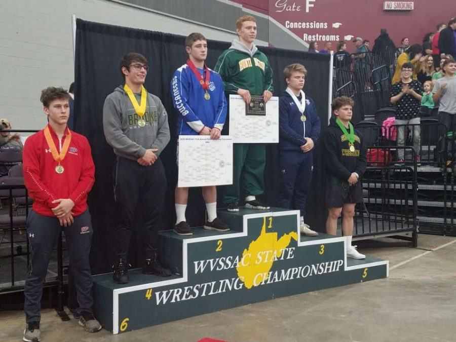 Owen+Quinn+taking+home+fifth+place+from+the+2020+WV+Wrestling+State+Meet.