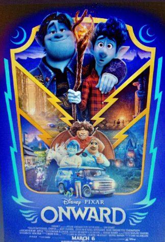 The movie poster for Disney-Pixars Onward.
